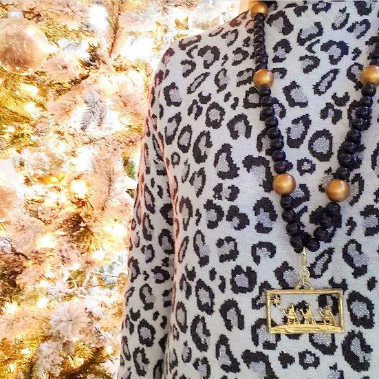 Joy, Nativity, & angel long necklace