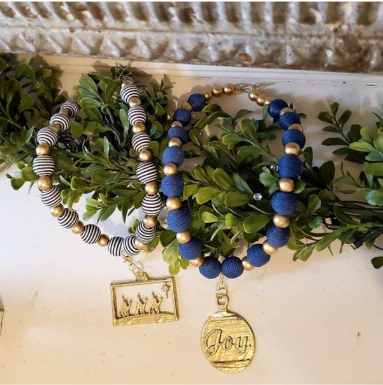 Joy,Nativity, and angel short necklace