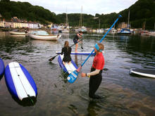 Paddle Boarding Lower Town- Hamilton Lodge Fishguard Pembrokeshire - Holiday Home Wales