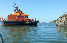 Fishguard Lifeboat at Lower Town- Hamilton Lodge Fishguard Pembrokeshire - Holiday Home Wales