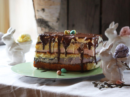 Pastel Ice Cream Layer Cake