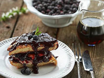 Stuffed French Toast with Saskatoon Berries