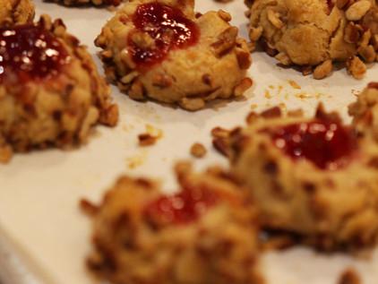 Pecan Thumb Print Cookies