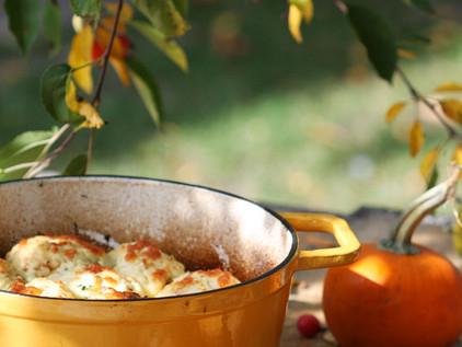 Autumn Beef Stew with Parmesan Herb Dumplings