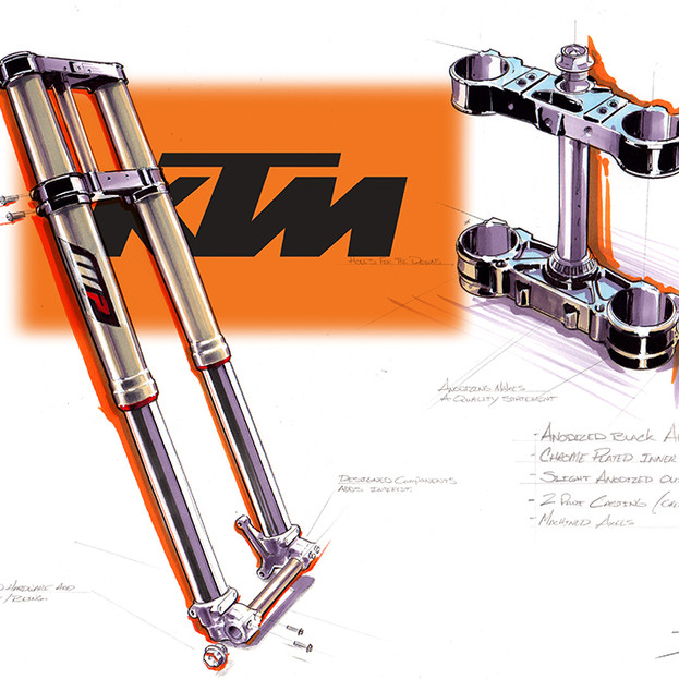 Ktm 300 triple clamp and fork renderlogo