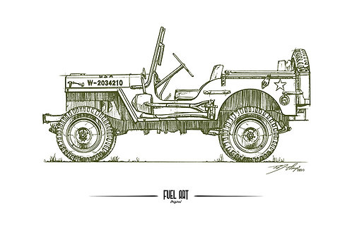 1941 Willys MB Sketch