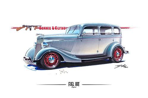 Bonnie and Clyde Ford Sedan