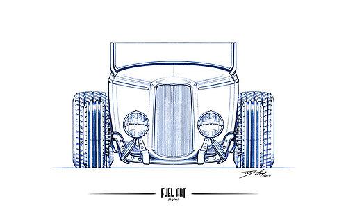 1932 Ford Roadster Sketch