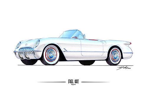 1954 Corvette Marker Rendering
