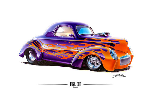 Willys coupe marker render