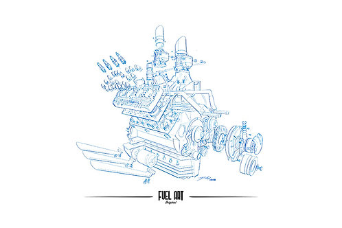 Ford Flathead V8 59AB Exploded View