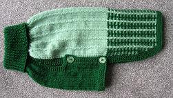 medium coat in 2 tone greens