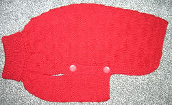 medium dog coat in red