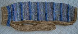 dog coat 625 in blue/beige