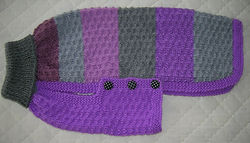 large dog coat in mauve and grey stripest 820.JPG