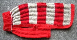 medium dog coat red and beige aran 895.JPG