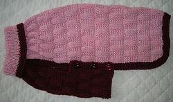 dog coat 596 in pink/maroon