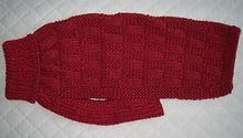 dog coat 639 in red