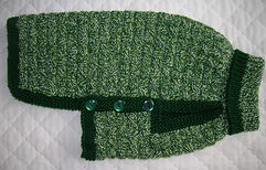 medium dog coat in greens