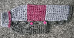 medium dog coat grey pink