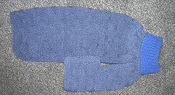 medium dog coat in blues