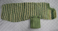 belly band coat in greens velour