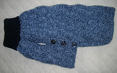 medium dog coat in blues