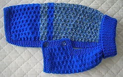 medium dog coat blue fleck aran