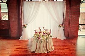 Sweetheart Table Drape Backdrop