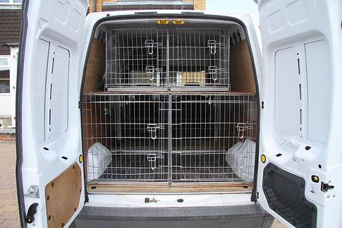 cages inside work van