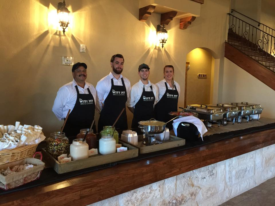 Our catering staff ready to serve!