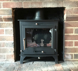 Stove Install - Lucy