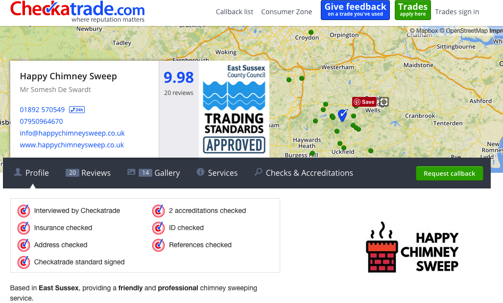 Checkatrade - Happy Chimney Sweep