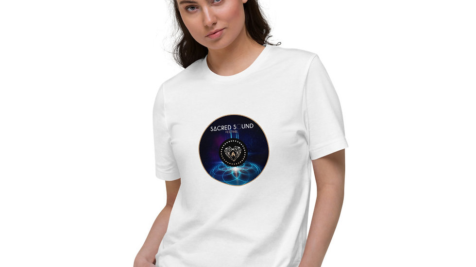 """Cosmic Geometry"" - Unisex Organic Cotton T-Shirt"