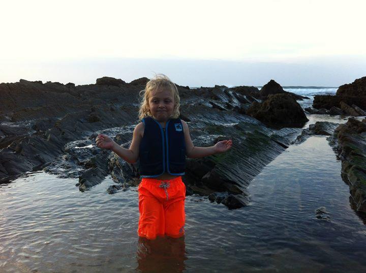 Facebook - Zenn enjoying the beach