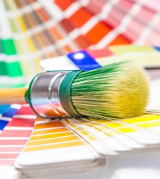 Kleurenwaaiers met kwast