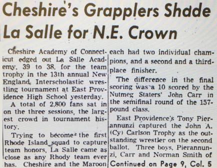 1961 New England Tournament