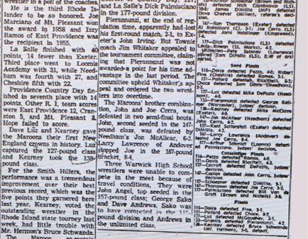 1960 New England Tournament