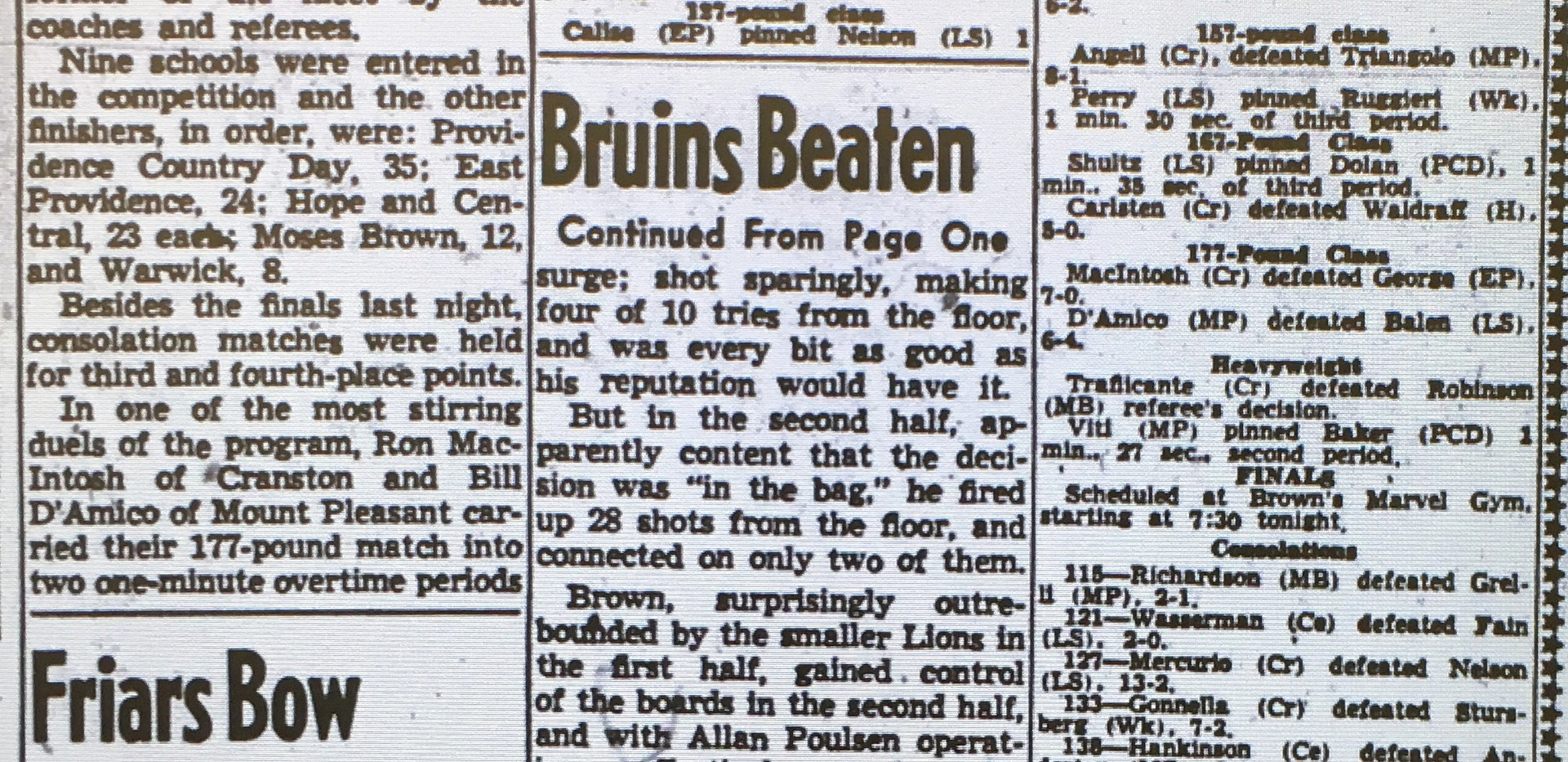 1957 State Tournament