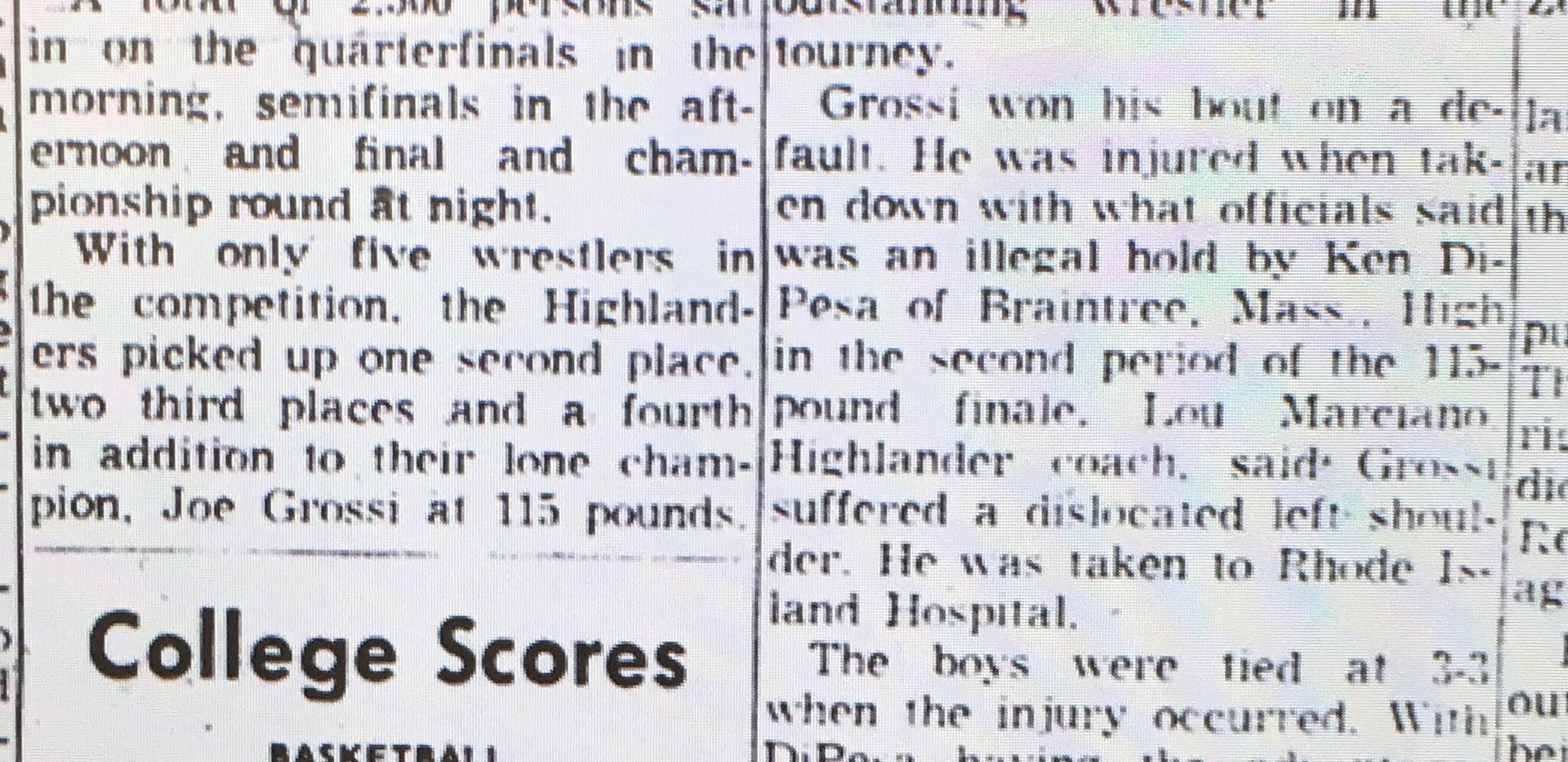1963 New England Tournament