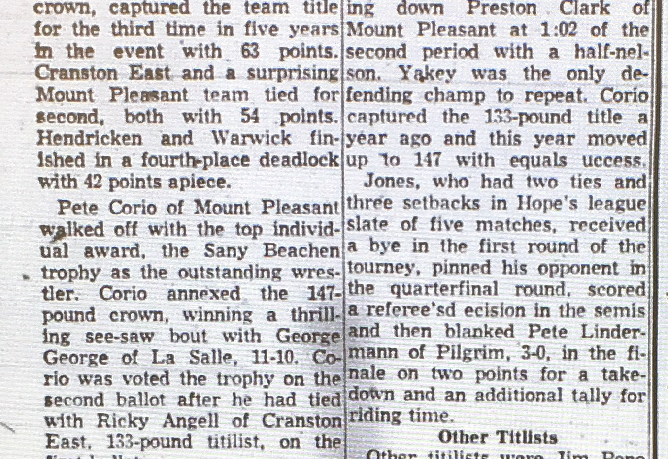 1964 State Tournament