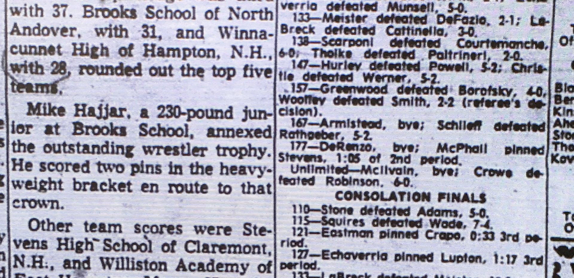1964 New England Tournament