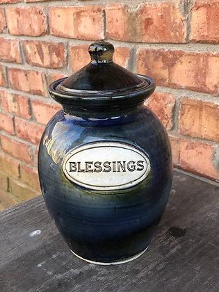 BLESSING JAR, Blue & Green
