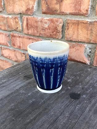 Tumbler, Cobalt Blue with White