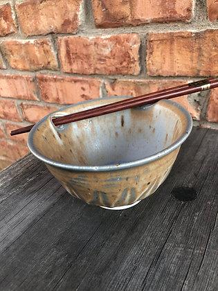 Rice Bowl, Blue Chocolate w/ Chopsticks