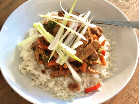 Pork Stir Fry with a Satay Style Sauce – serve with rice