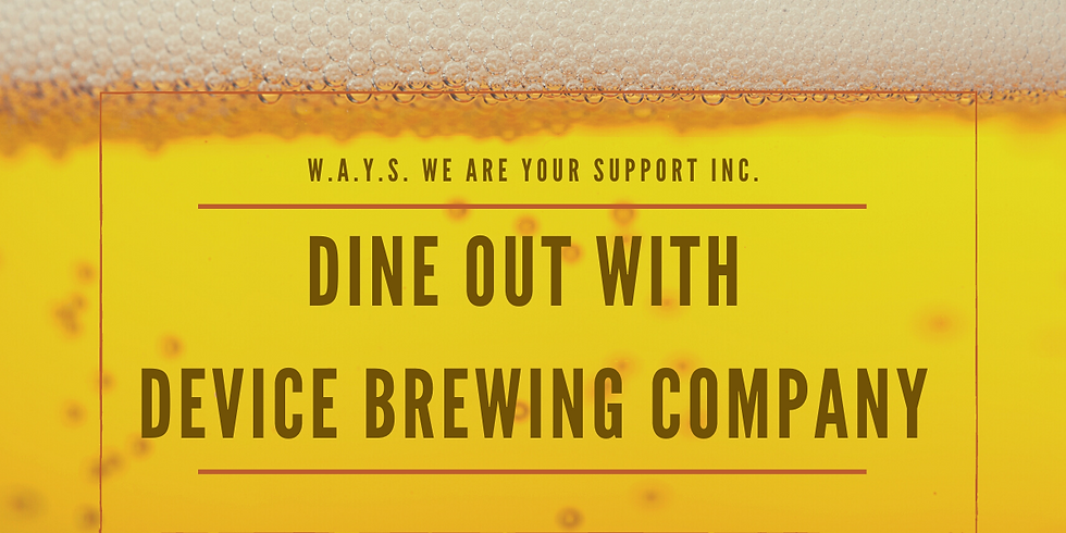 Dine out with Device Brewing Company