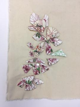 Ceramic embroidery