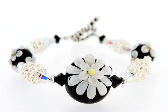 Daisy Bracelet- Black