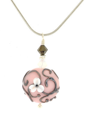 Scroll Necklace-Pink